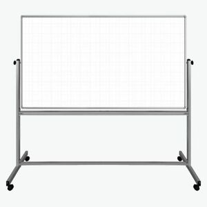 72 X 40 Mobile Magnetic Double sided Ghost Grid Whiteboard