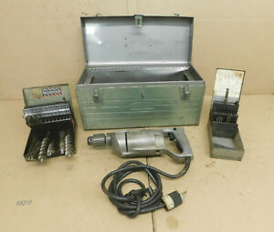 Milwaukee Heavy Duty Drill Corded 115 Volt 560rpm 4 0 Amps W drill Bits Working