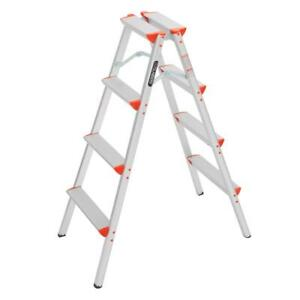 New Portable 4 Step Ladder Foldable Step Stool Ladder Lightweight Multi Purpose