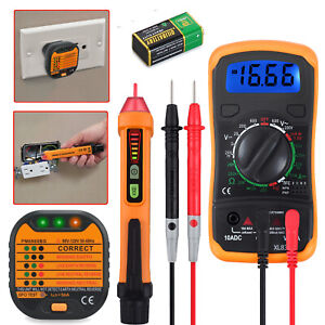 Electrical Test Kit Non Contact Voltage Tester Pen Digital Lcd Multimeter Kits