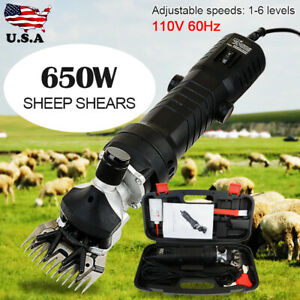 650w Electric Shearing Clipper Sheep Goat Grooming Shears Farm Tool Black Us