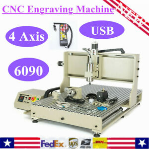 4 Axis Usb 6090 Cnc Router Engraver Engraving Machine 3d Cutter Controller Rc