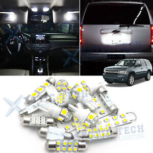 White Led Interior Map Dome License Light Package Deal For Chevy Tahoe 2007 2014