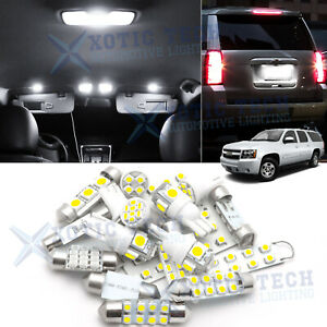 White Led Interior Tag Light Bulb Package Kit For Chevy Suburban Tahoe 2007 2014