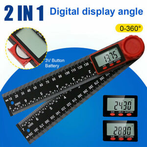 Us 2 In 1 Electronic Lcd Digital Angle Finder Protractor Ruler Goniometer 8