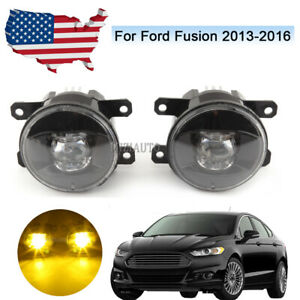 Fog Lights For Ford Fusion 2013 2014 2015 2016 Amber Led Bulb Driving Lamp Us