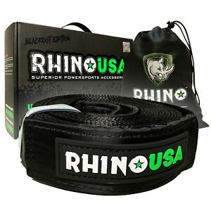 Rhino Usa Blackout Edition Recovery Tow Strap 3 X 30ft Lab Tested 31 518lb
