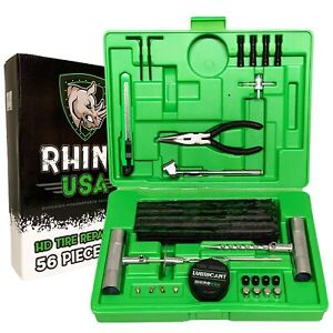 Rhino Usa Tire Plug Repair Kit 56 Piece Fix Punctures Plug Flats With Eas