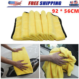 Large Microfiber Cleaning Cloth Wash Towel Drying Rag Car Polish Detailing Z0r1