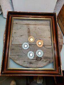 Large Antique Gesso Picture Frame Old Glass 20x16 Recessed Wood 24x19 5x2