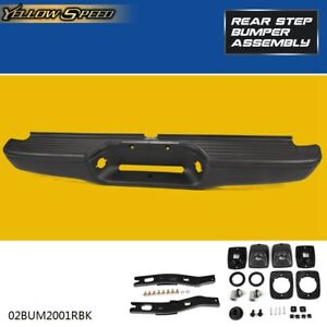 Rear Steel Step Bumper Face Bar Assembly For 1995 2004 Toyota Tacoma To1102214
