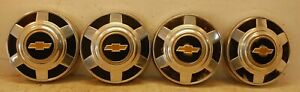 Set Of 4 Chevy 1976 1995 Bowtie 3 4 Ton Pickup Truck Van Dog Dish Hubcaps