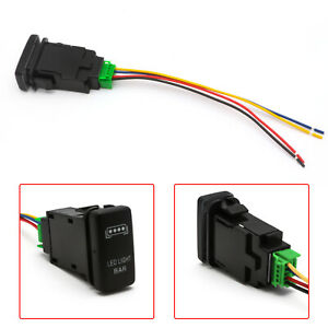1x Oe Led Light Bar Push Button Switch W Wiring Indicator Light Kit For Toyota