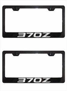 Carbon Fiber Metal 370z License Plate Frame Tag Holder Mount For Nissan 370z