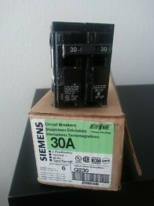 Siemens Q230 30 amp Double Pole Type Qp Circuit Breaker