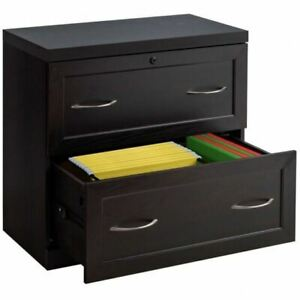 Durable 2 drawer Black Free Standing Lateral File Cabinet