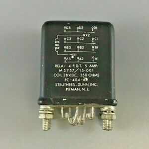 Struthers dunn M5757 15 001 Electromagnetic Relay 5a Coil 28vdc