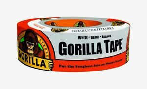 Gorilla Tape White 1 88 X 10 Yd Toughest Jobs Double thick Adhesive 6010002 New