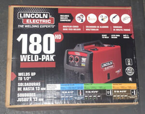 Lincoln Electric 180 Hd Amp Weld Pak Mig Wire Feed Welder 180hd K2515 1 New