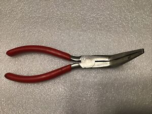 Snap On Tools 497acp Usa Bent Needle Nose Pliers 7 Red Handles