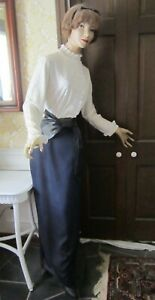 Vintage 6 Ft Tall Female Store Mannequin Composite Wood Dressed Gc