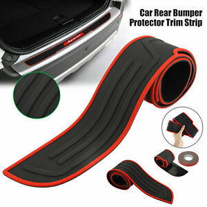 Rubber Car Rear Bumper Protector Trim Strip Trunk Sill Guard Scratch Pad Cover