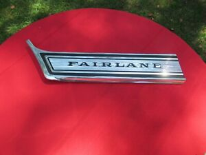 Ford 1967 Fairlane 500 Xl And Ranchero Lh Fender Moulding Nos