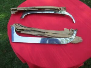 Ford 1956 Outside Windshield Moulding Pair Nos Sedan Delivery Country Sedan