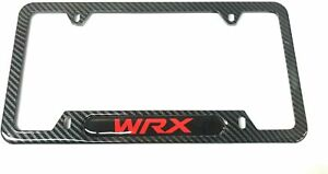 Carbon Fiber Stainless Steel Wrx License Plate Cover Frames Caps For Subaru