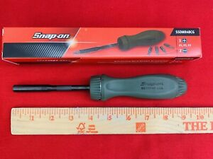 Snap On Tool Screwdriver Combat Green black Hard Handle 5 Bit Tip Ssdmr4bcg New