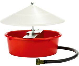 1 25 Gallon 5 Quart Automatic Poultry Waterer With Cover Hose Chicken Drinker