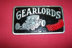 Vintage Car Club Plaque Gearlords 1932 Ford Hot Rod Accessory Scta