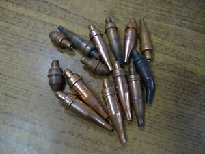 Lot Victor And Other Welding Cutting Torch Tips