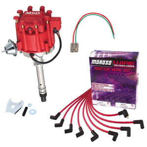 Msd 8365 Pro Billet Chevy Hei Distributor Kit Moroso Plug Wires