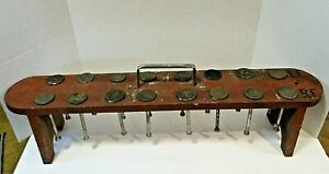 Vtg Engine Valve Organizer Wooden Display Stand W 16 Old Ford Flathead V8 Valves