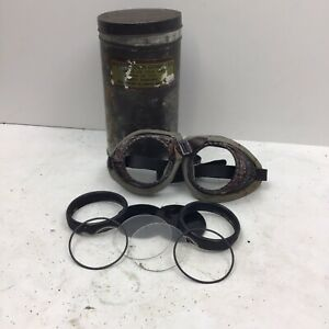 Vintage Welding Goggles In Vulcan Can