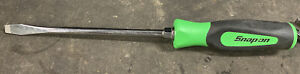 Snap on 3 8 Flat Tip Screwdriver Green Instinct Handle Sgd8b Slot Slotted
