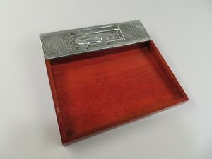 Wood Metal New Domain International Designs Tray Sticky Post it Note Holder