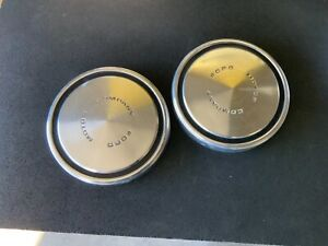 1968 73 Ford Mustang Maverick Torino Dog Dish Style Hubcaps 2 Each