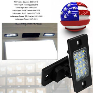 No Error White Led License Plate Lights For 03 10 Cayenne Vw Touareg Tiguan