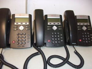 Lot Of 3 Polycom Soundpoint Ip 330 Sip Phones Reset