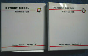Detroit Diesel Series 53 Service Manuals 2 Binders Sections1 3 Sections4 15 Good