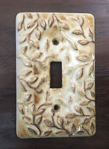 Vintage Ceramic Switch Plate Outlet Cover