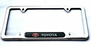 Stainless Steel Rust Free Sport License Plate Cover Frames Screw Caps For Toyota