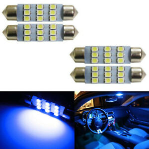 4 Ultra Blue 9 Smd 1 72 42mm 578 211 2 Led Bulbs For Interior Map Dome Lights