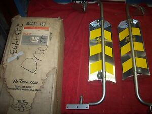 Vintage 1960 s Nos Gmc Retrac West Coast Truck Mirrors In Original Box 2234473