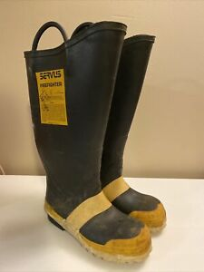Servus Firefighter Fire Boots Mens Size 5m Or Womens 6w
