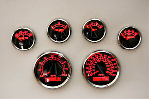 6 Gauge Set W o Senders speedo tacho oil temp fuel volt Bwr