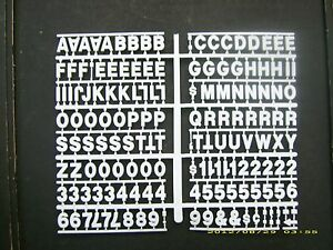3 4 White Pepsi cola Menu Board Or Message Sign Letters numbers Symbols