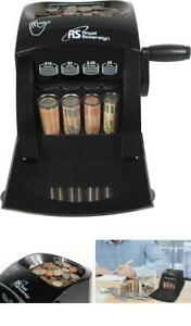 Manual Coin Sorter Counting Machine Counter Money Cash Sorting Anti Jam Roll New